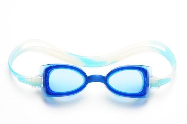 白の水泳用ゴーグル