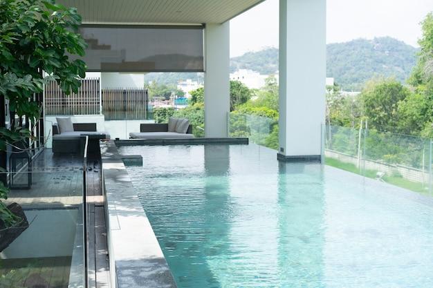 Swimming pool in balcony hotel