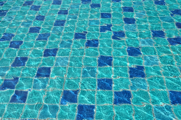 Swimming pool floor under water as the background