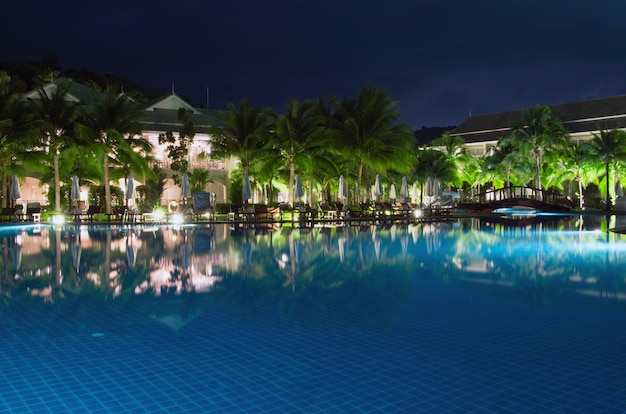 Swimming pool in hotel in thailand