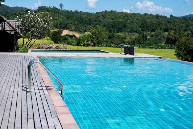 Swimming pool at the resort