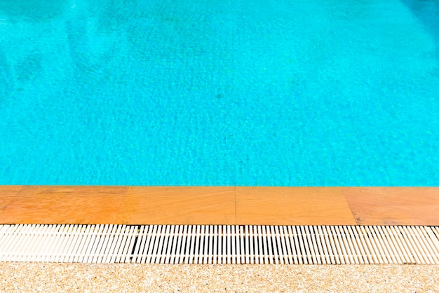 Swimming pool side and ripple water