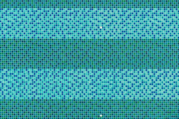 Swimming pool top view background, aquas blue and green ceramic tile mosaic in swimming pool.