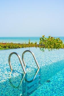 Swimming pool with sea views
