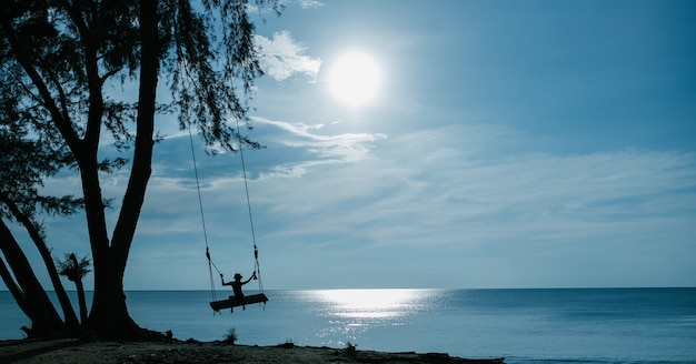Swing on the beach