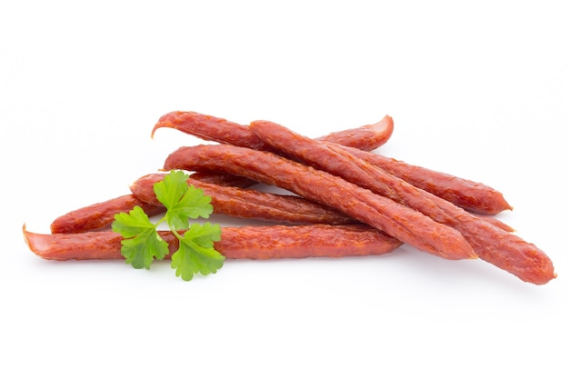 Swiss style peperoni or salami, parsley sausage