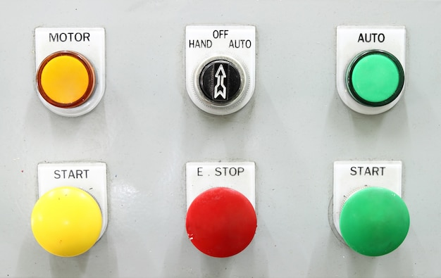 Switching button control panel