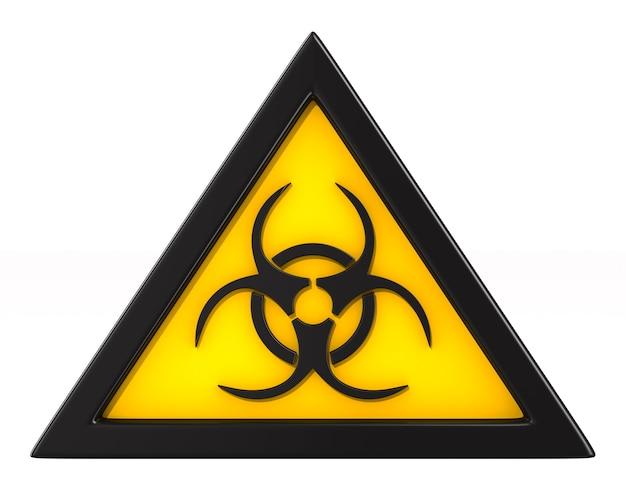 Symbol biohazard on white