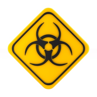 Symbol biohazard on white.