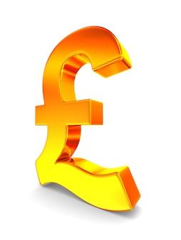 Symbol british pound on white background. isolated 3d illustration