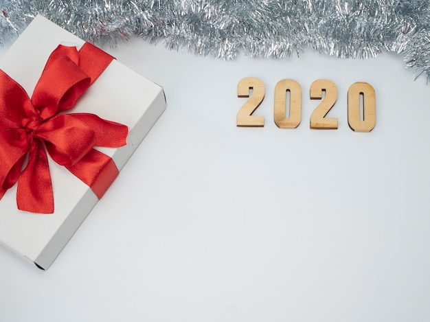 Symbol from number 2020. festive new year