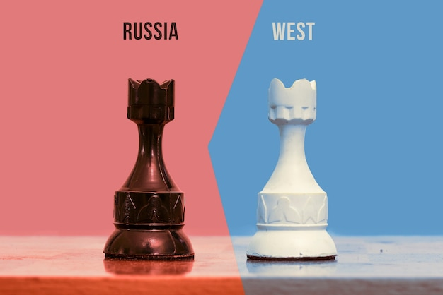 Symbol growing confrontation between russian federation and the west