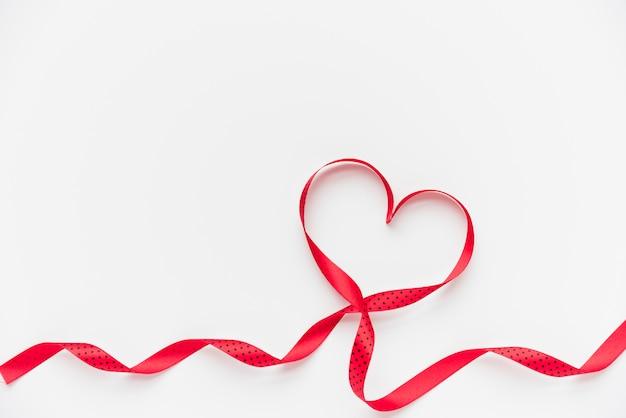 Symbol of heart of ribbon