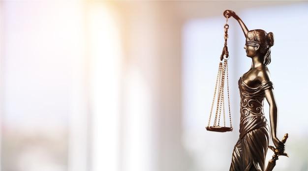 법의 상징, 현대 홀의 테미스. 비즈니스의 정의와 법. 법률 시스템. - 이미지