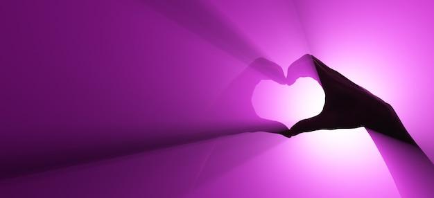 사랑과 존중의 상징. 손 동작.
