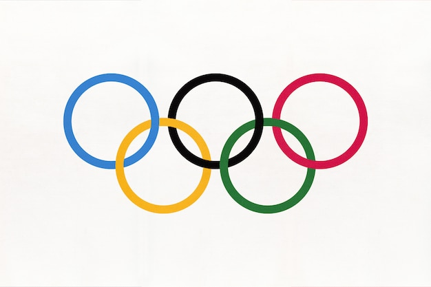 Symbol of olympic games flag
