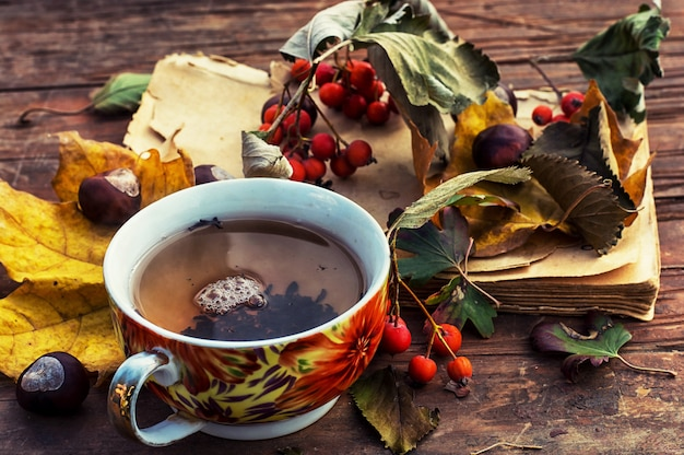 Symbolic autumn tea