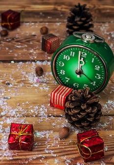 Symbolic christmas alarm clock