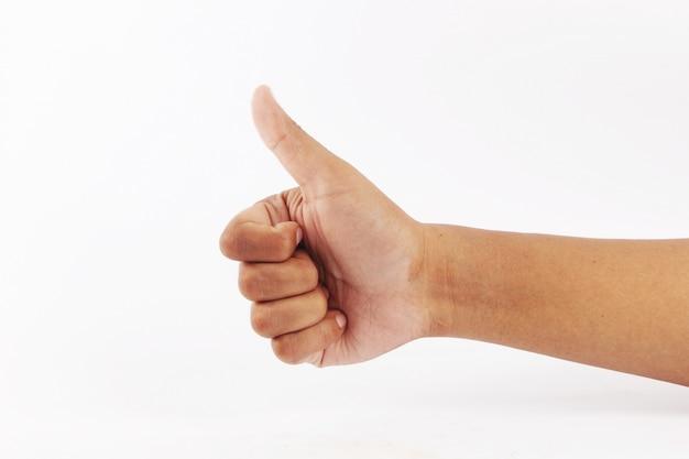 Symbolizes the thumb