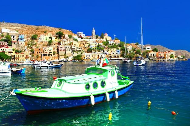 シミ島-ギリシャの美しいカラフルな島、ドデカネッセ