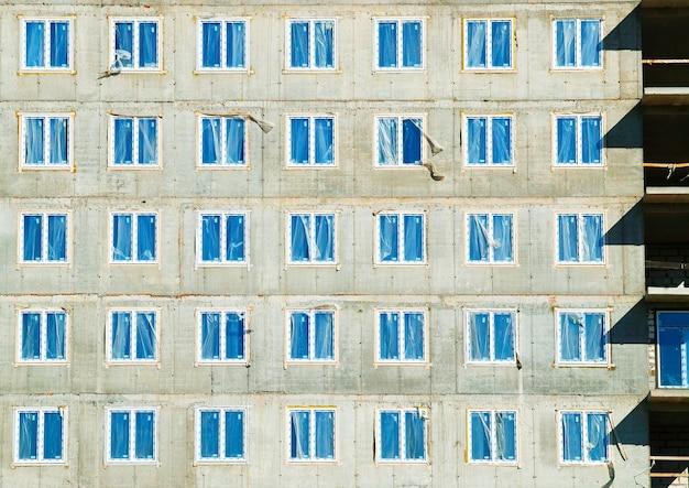 建設現場の背景hdの対称窓