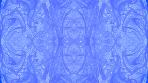 Symmetrical blue marbling texture abstract surface design