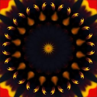 対称的な放射状の背景の抽象的な図