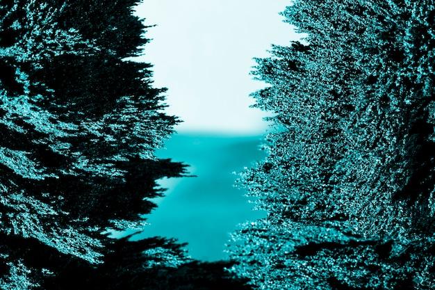Symmetry of blue magnetic metal shaving background