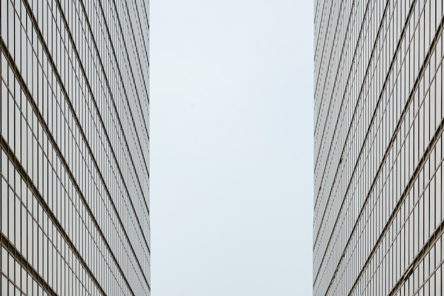Symmetry of the building in hong kong