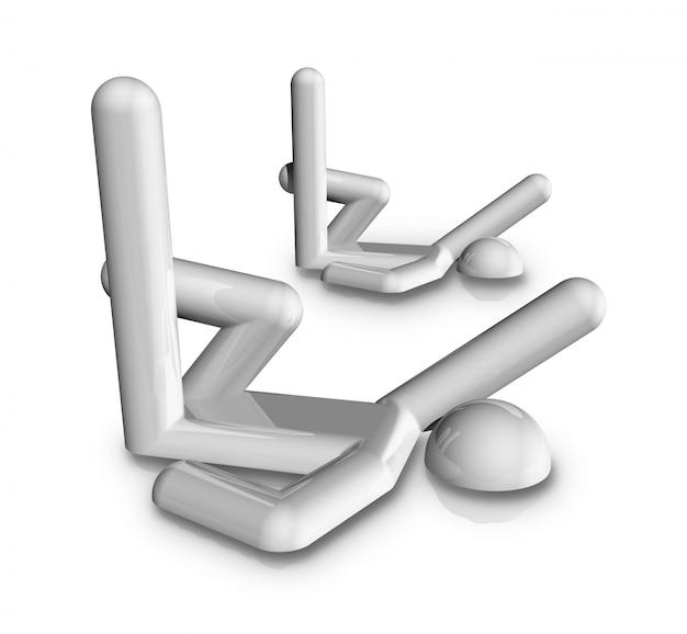 Synchronised swimming 3d symbol