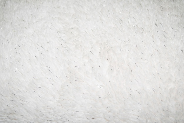 Synthetic fur white texture for the background with silver elements