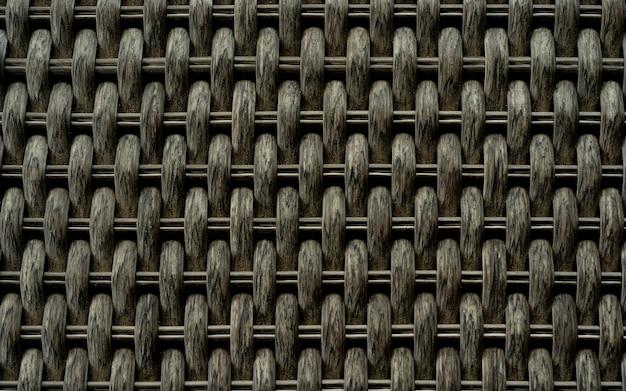 合成籐テクスチャ織り背景、籐テクスチャ、ディテール手作り竹織りテクスチャ背景、プラスチック製であるが竹製のように見えるファインクラフトテクスチャ