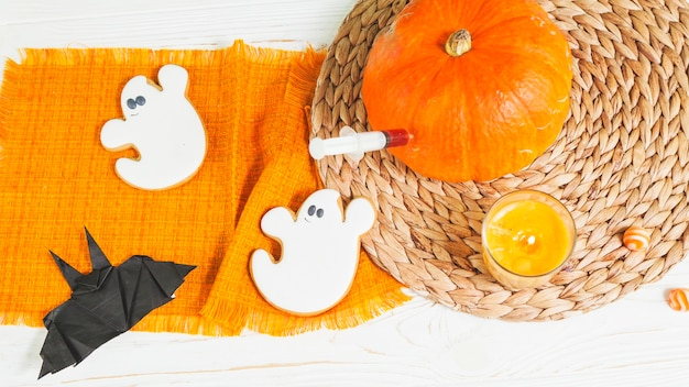 Syringe sticking in pumpkin