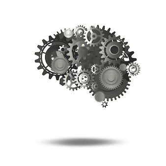 人間の脳としての機械歯車のシステム