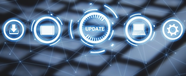 System software update. technology. internet