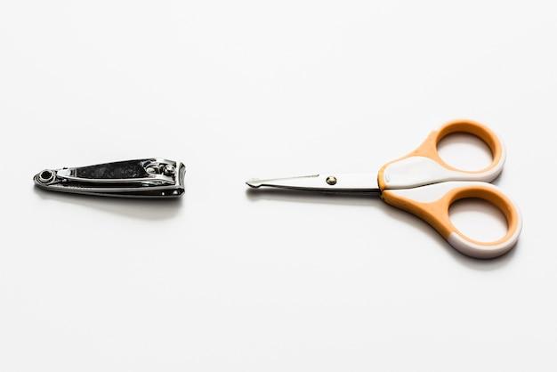 さまざまな爪の手入れと切断のためのシステム、爪切り、衛生的なはさみ。
