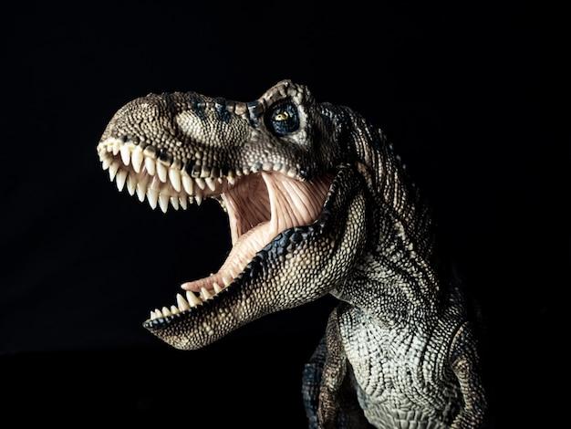 Тираннозавр динозавр t-rex на черном