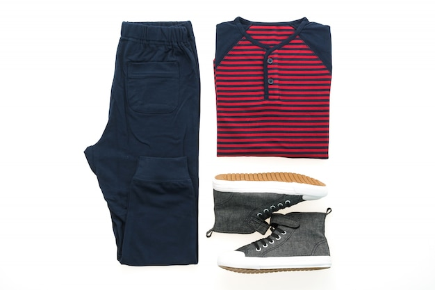 T-shirt with pants and shoes