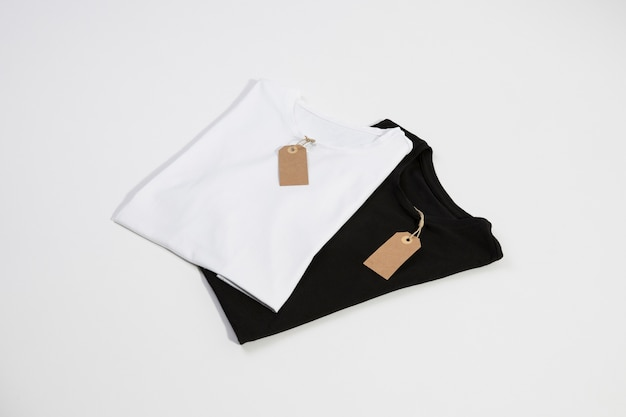 T-shirts with tags