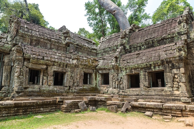 Руины храма та пром в ангкор-ват в сием рипе
