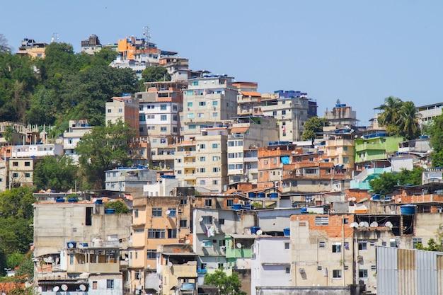 Tabajara hill in copacabana in rio de janeiro brazil.