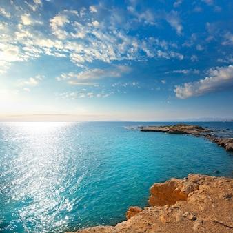 Tabarca island alicante mediterranean blue sea