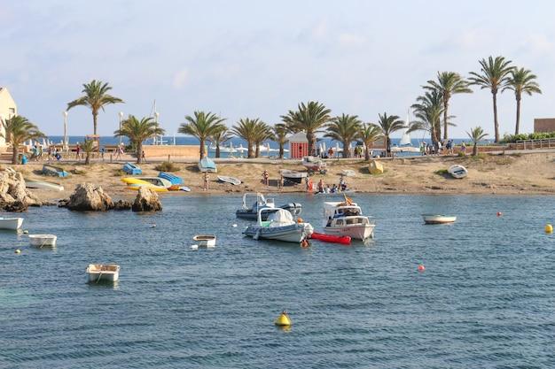 Tabarca island in costa blanca mediterranean - spain