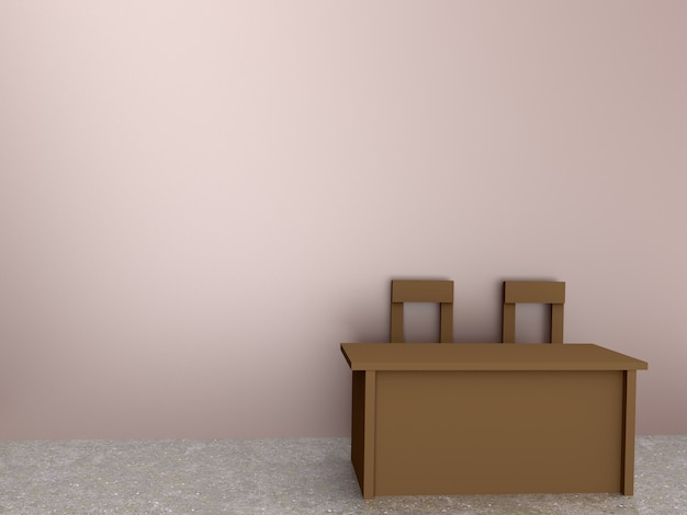 Стол и стул в номере