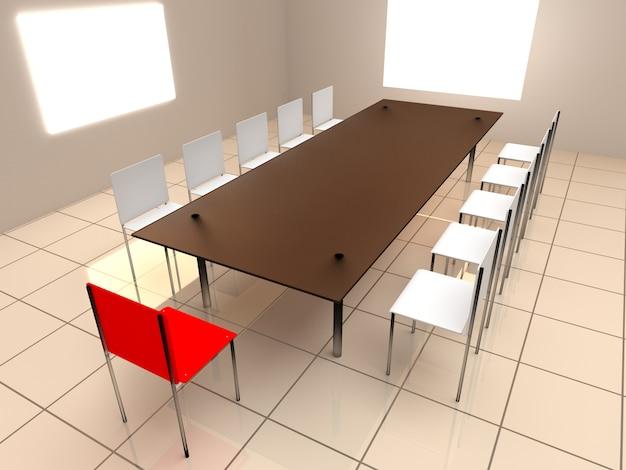 会議室のテーブルと椅子
