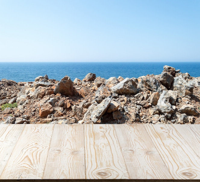 Table background outside seaview