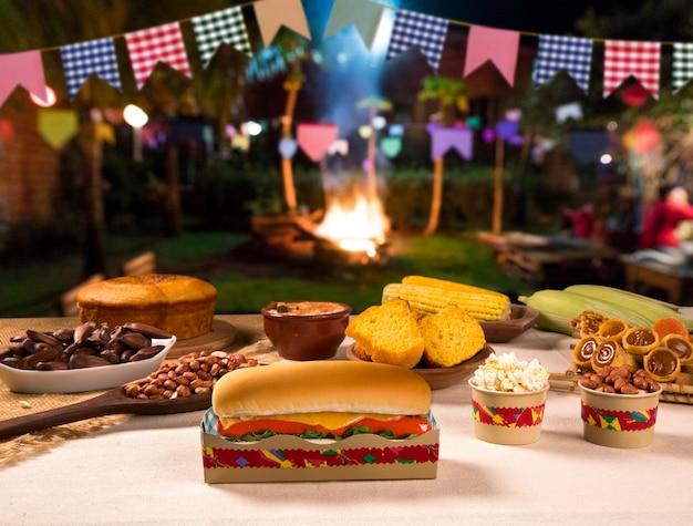 Table of brazilian festa junina.