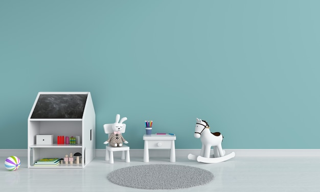 Table and chair in child room