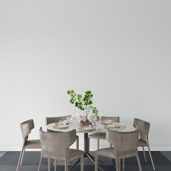 Table and chairs in a dining room