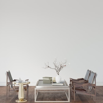 Table and chairs in a room on the wooden floor
